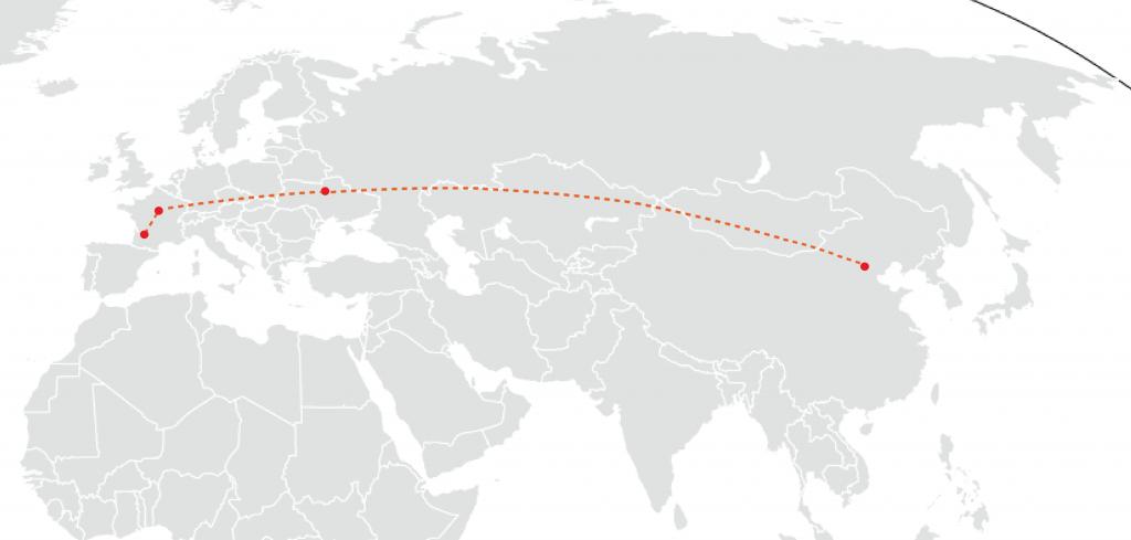 1er vol vers Pékin