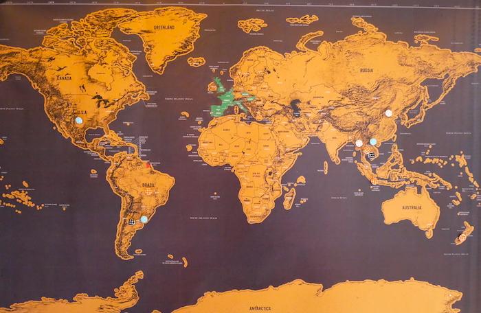 Un aperçu de notre itinéraire autour du monde avant le départ.