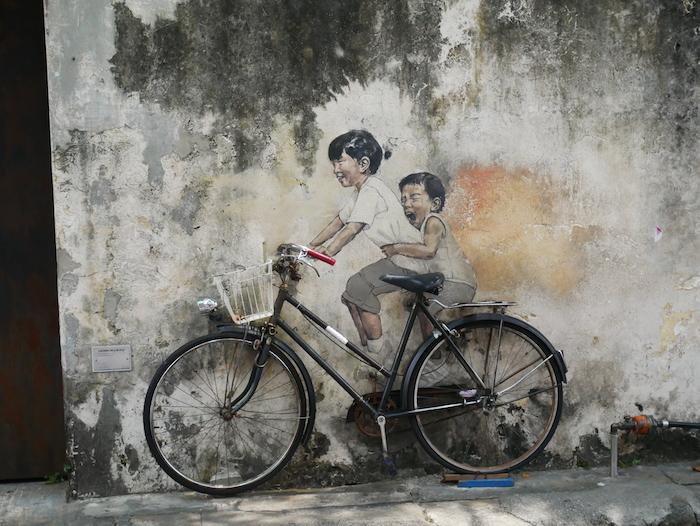 Le street art est partout à Penang.