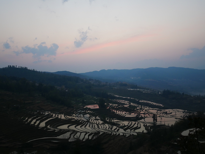 Où est le meilleur coucher de soleil à Yuanyang ?