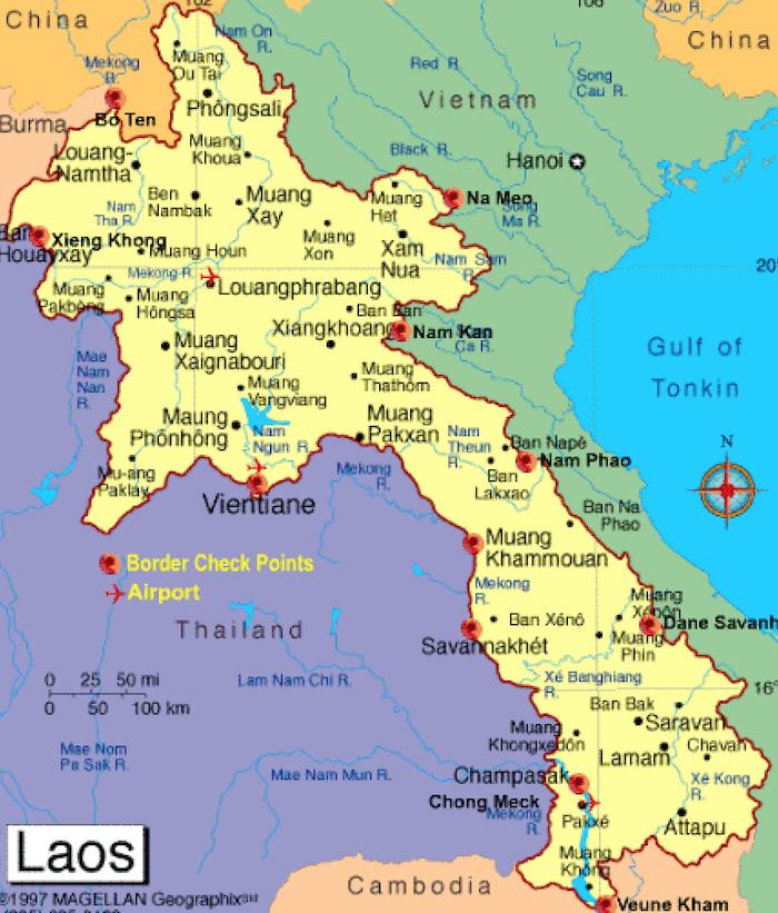 Où passer la frontière thaïlando-laotienne ?