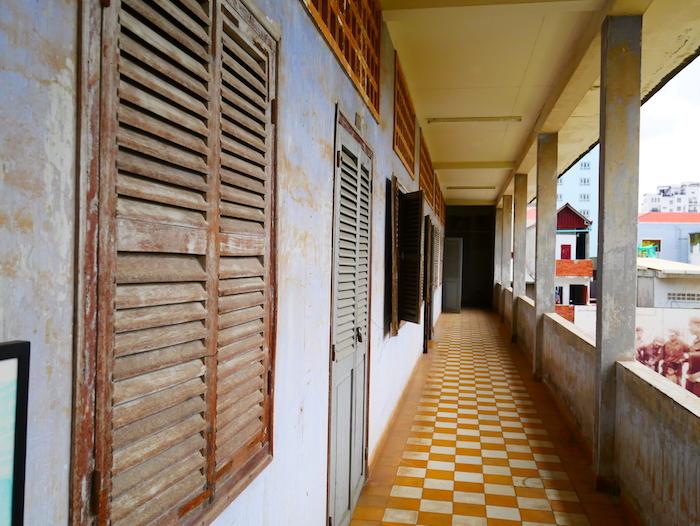 Tuol Sleng était un lycée avant d'être une prison.