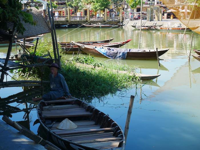 La pêche fait encore vivre la population de Hoi An.