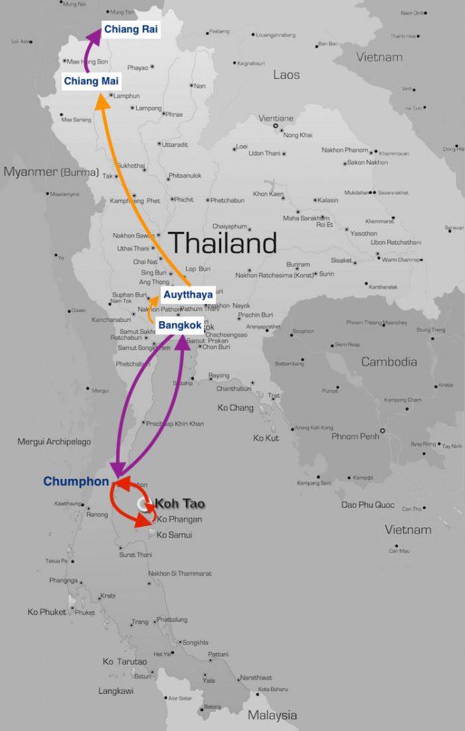 Quel itinéraire faire en Thaïlande ?