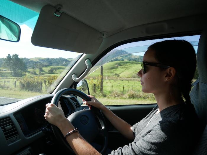 Comment se passe la conduite à gauche en NZ sur l'île du nord ?