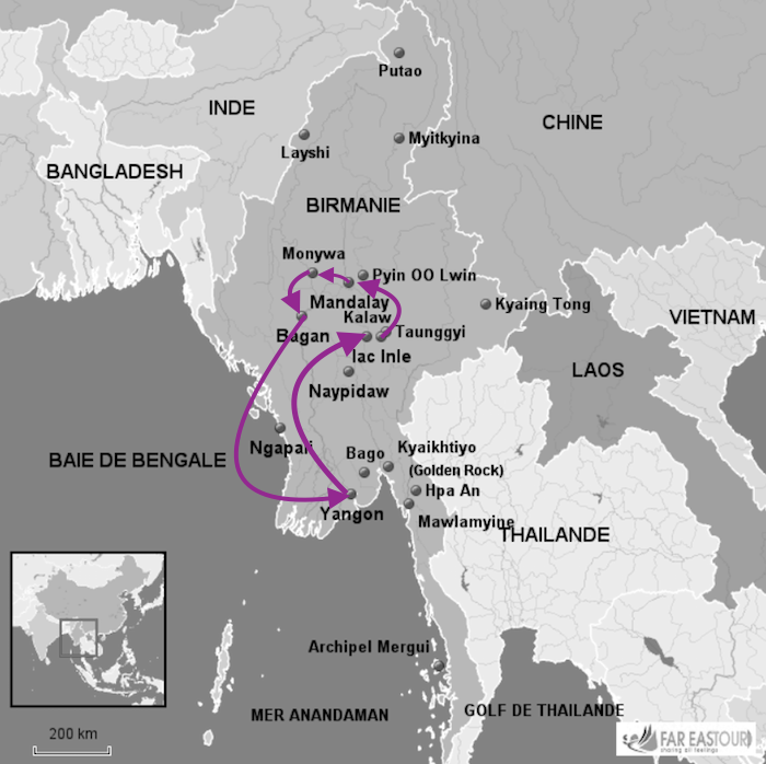 Quelles villes visiter en Birmanie ?