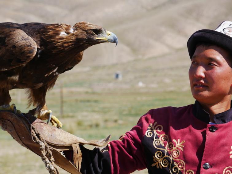 Que font les kirghizes avec un aigle chasseur ?