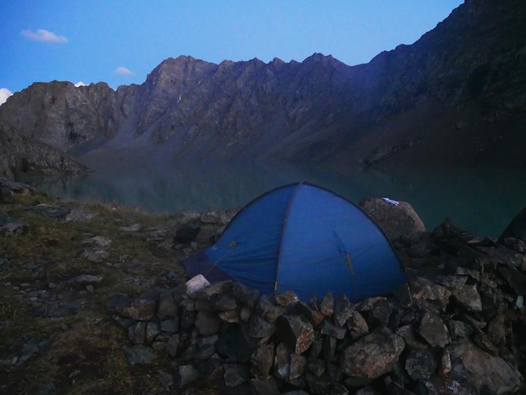 La vue sur le lac Ala Kul est magnifique !
