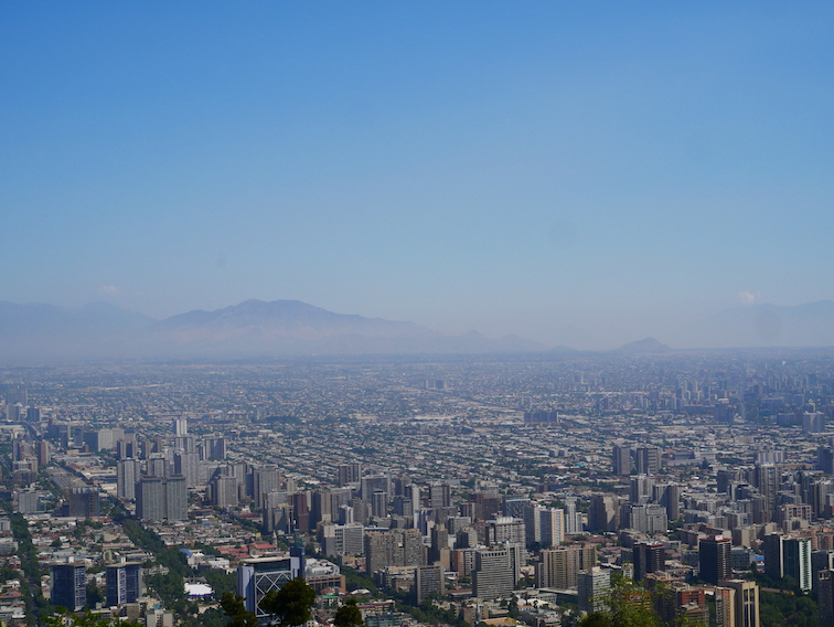 Comment voir Santiago d'en haut ?