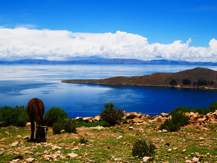 Vue sur le lac Titicaca.