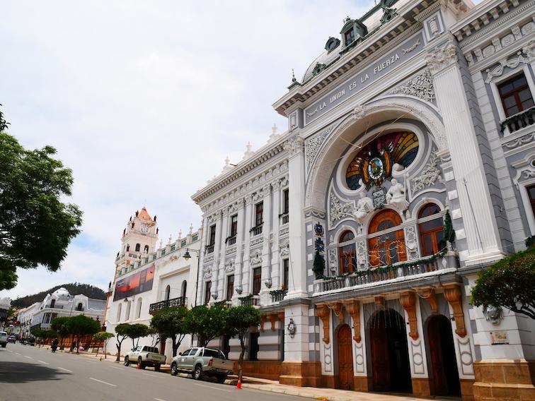 Ville de Sucre en Bolivie.