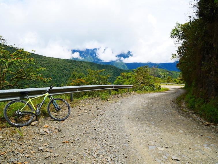 La route de la mort à côté de La Paz.