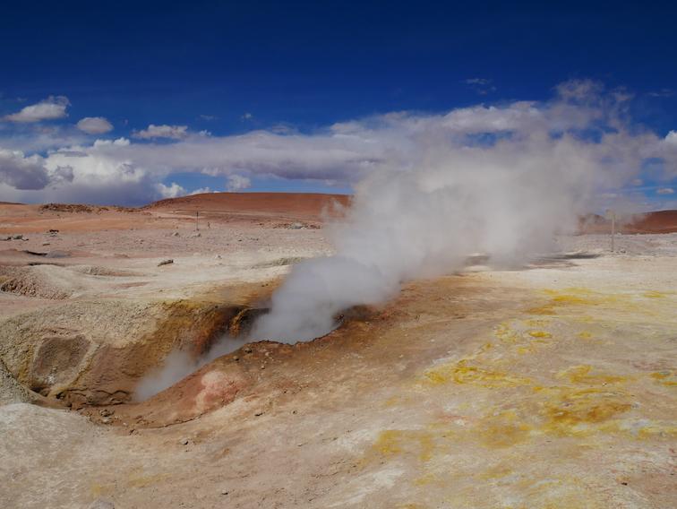 Des geysers en Bolivie.