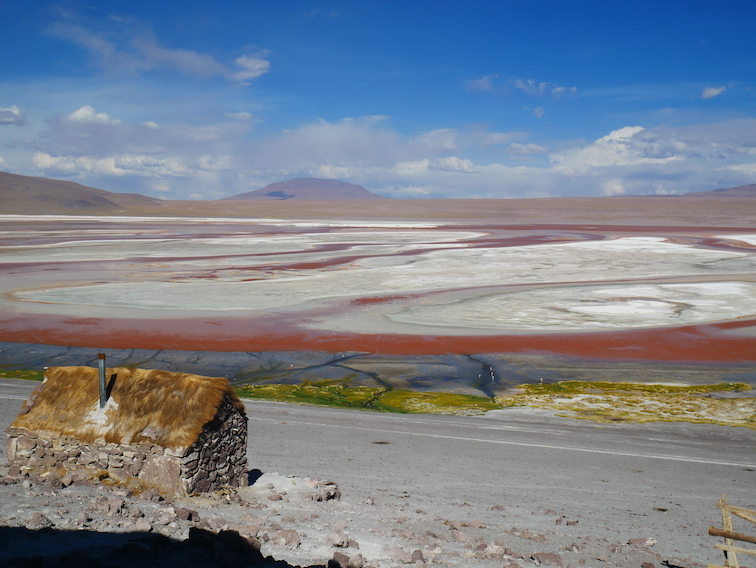Laguna colorada en Bolivie.