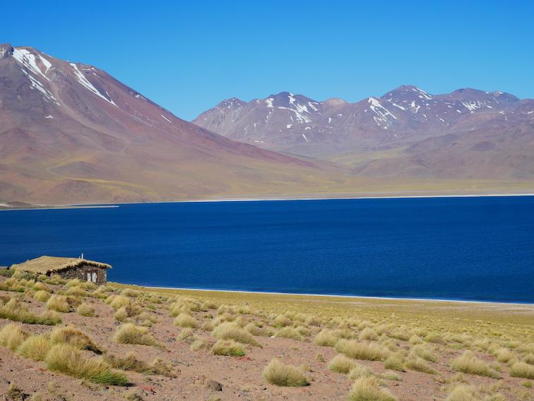 La lagune Miscanti au Chili.