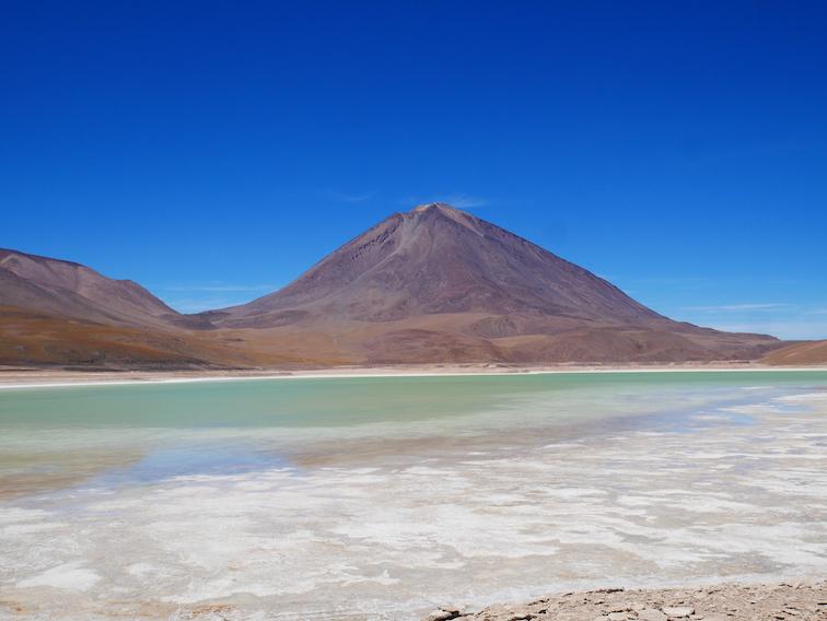 Laguna verde en Bolivie.