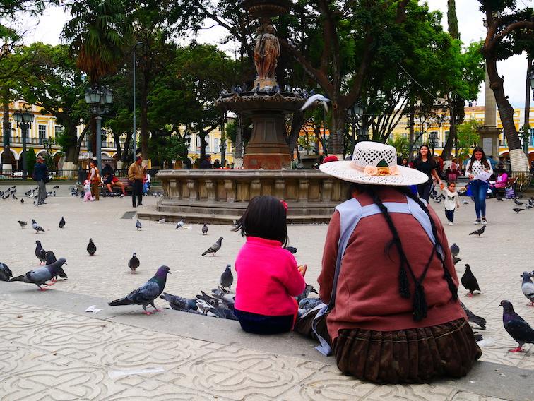 La place principale de Cochabamba.