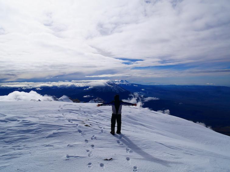 Romain au sommet du Chachani.
