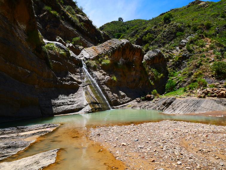Siete cascadas en Bolivie.