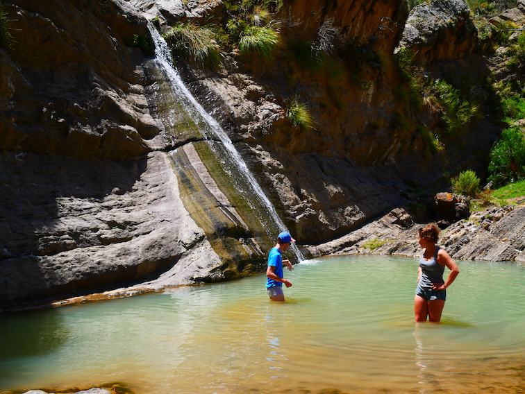 Une petite baignade dans les sept cascades.