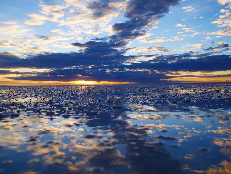 Le lever de soleil au Salar !