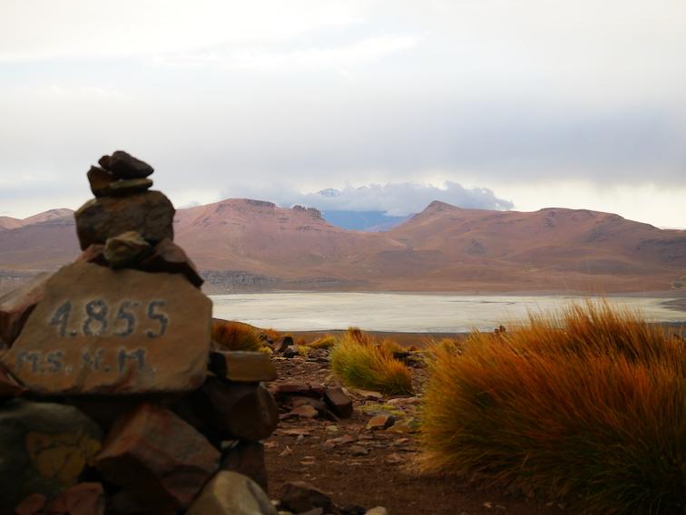 4855 mètres d'altitude en Bolivie.