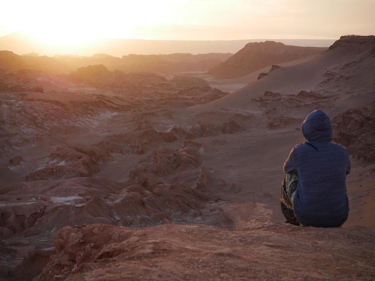 Vallée de la Lune dans le désert d'Atacama.