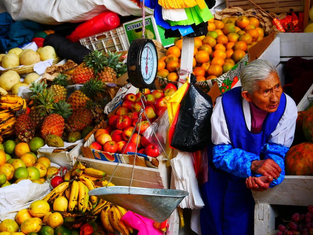 Marché de Cusco.