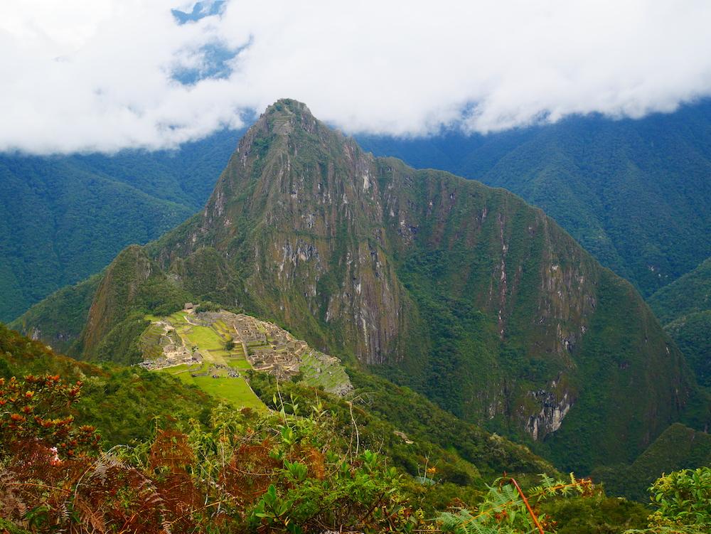 Le Machu Picchu paraît tout petit vu d'ici !