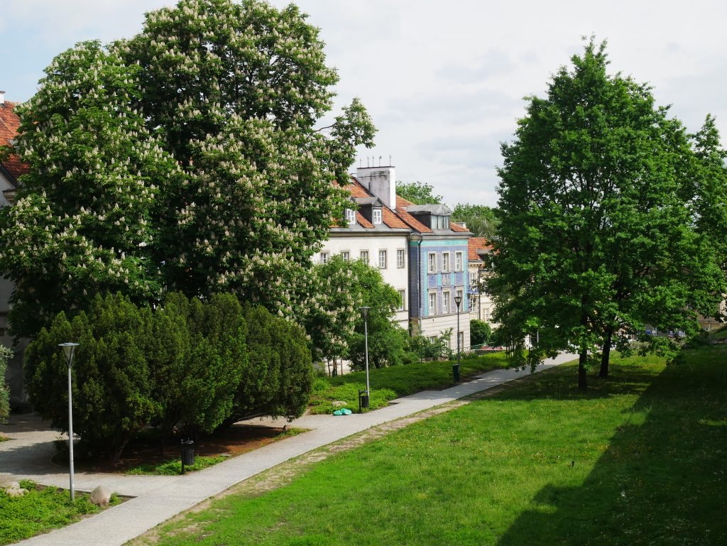 Maisons rues de Varsovie.