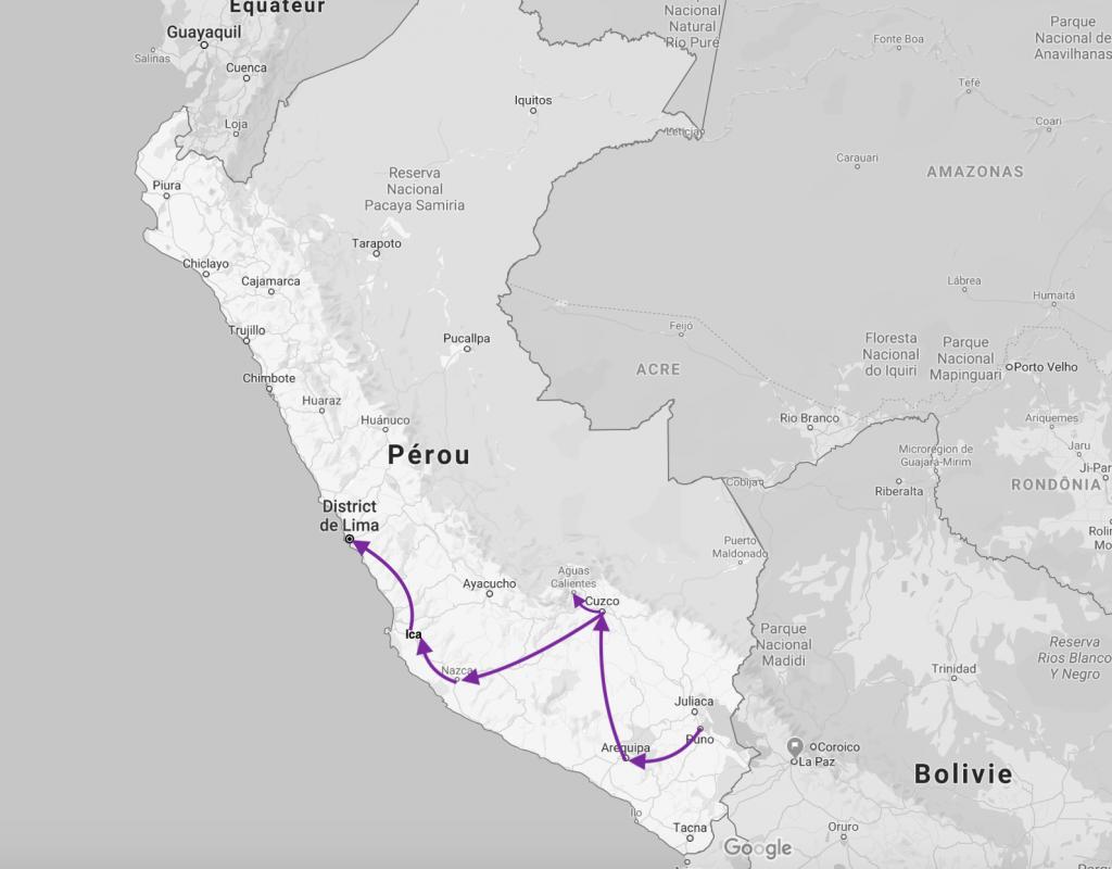 Qu'avez-vous fait au Pérou ?