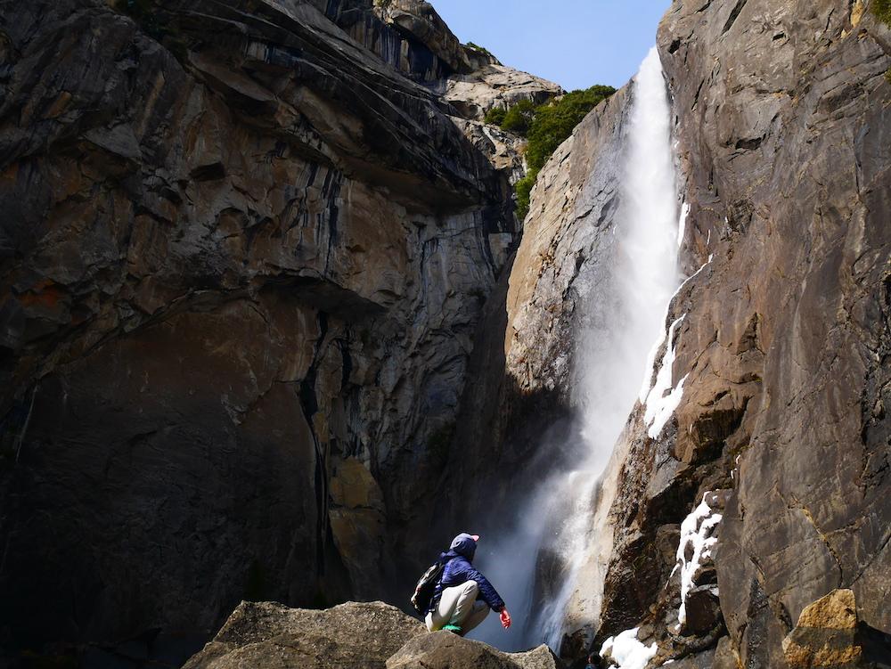 Chutes d'eau à Yosemite.