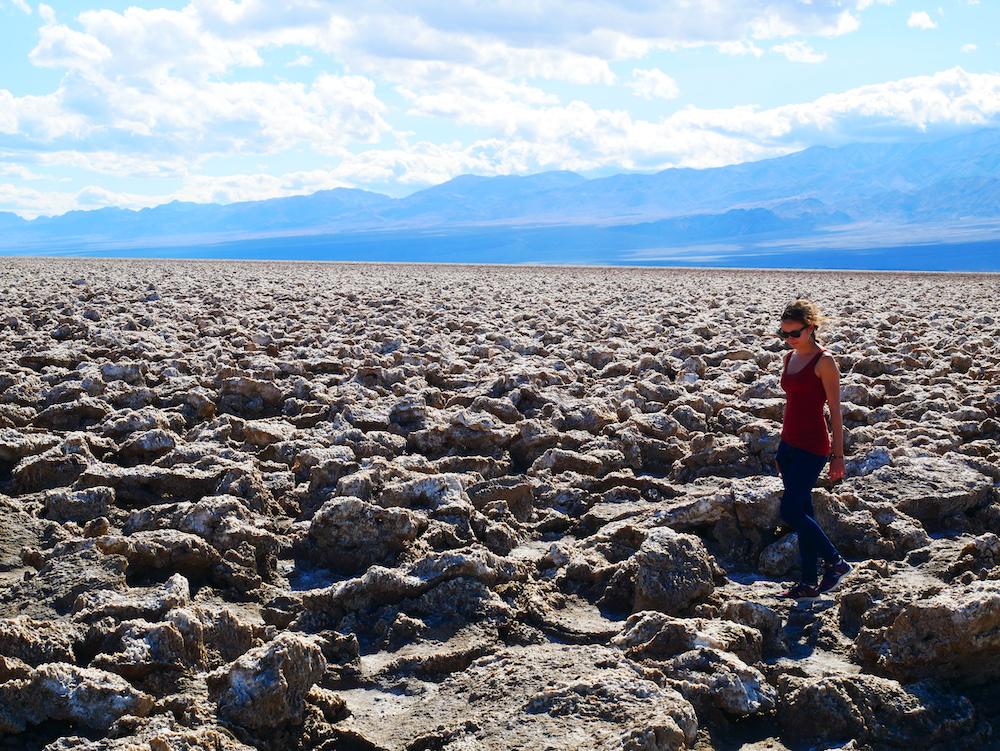 Désert de sel à Death Valley.
