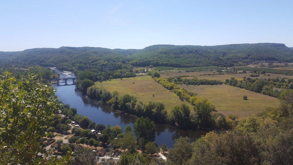 La vue sur la Dordogne.