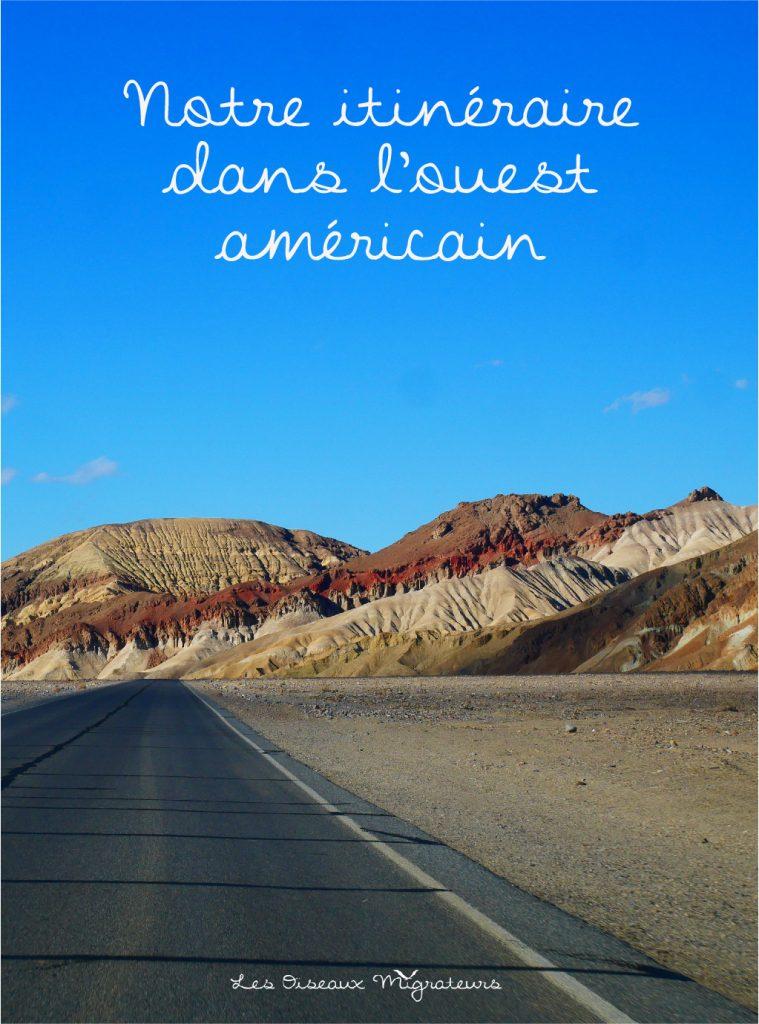 Epinglez l'itinéraire dans l'ouest américain sur Pinterest !