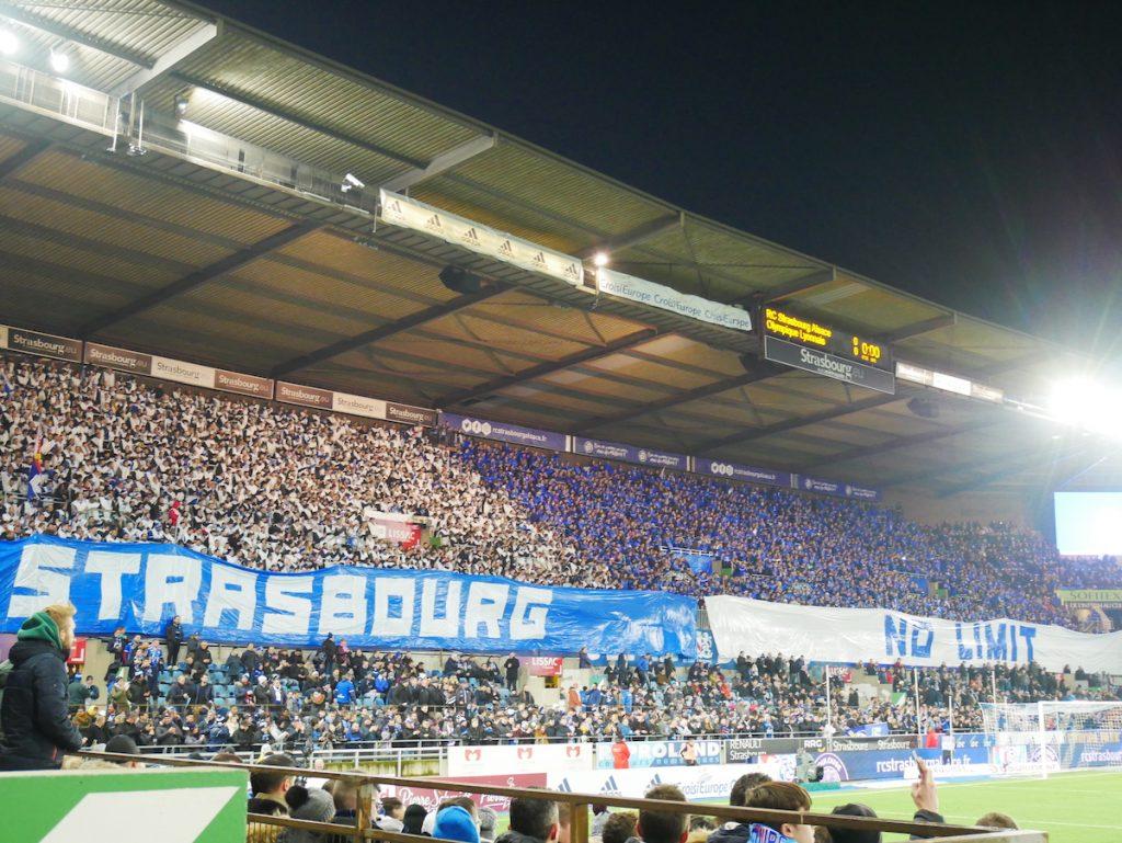 Match de foot en Alsace.