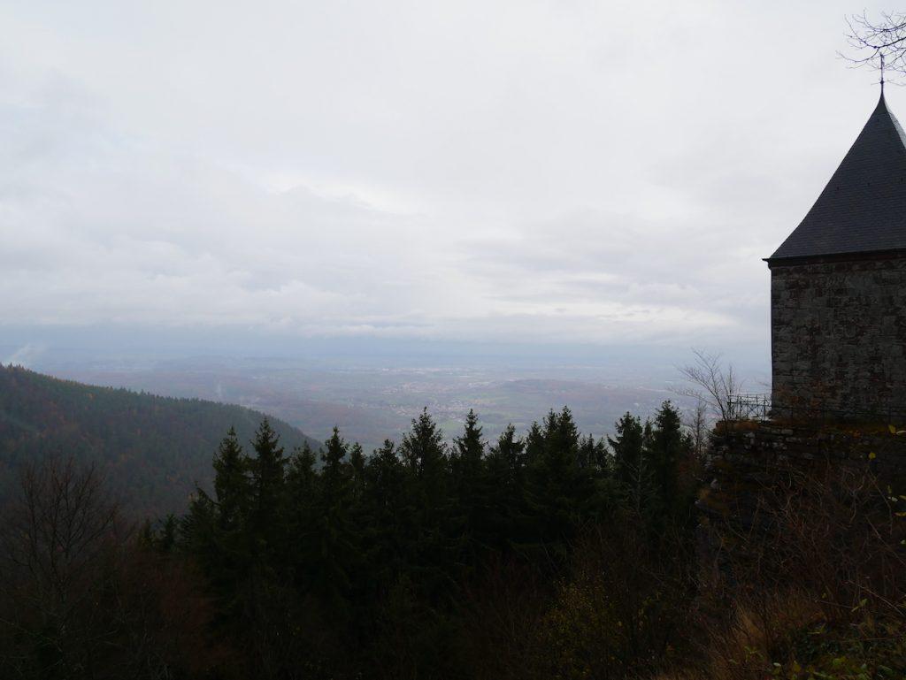 Vue du mont Sainte Odile.