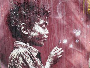 Enfant street art.