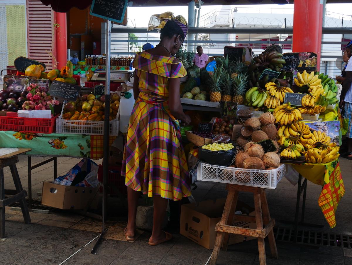 Le marché de Basse-Terre.