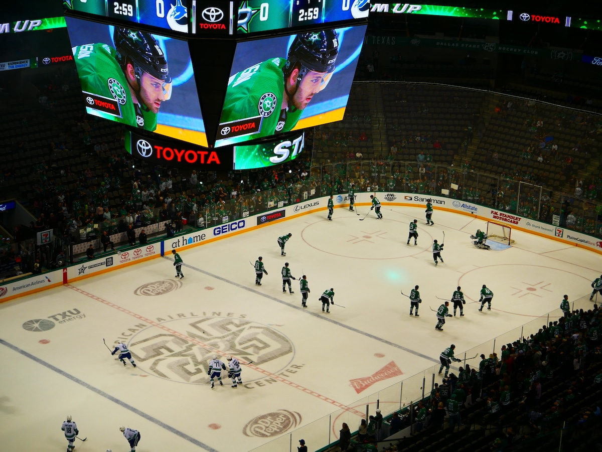 Match de hockey des Dallas Stars.
