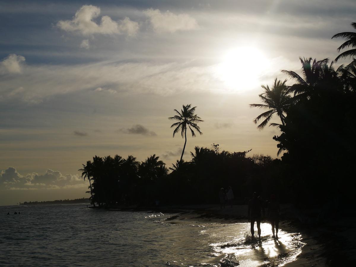 Fin de journée à la plage du bois jolan