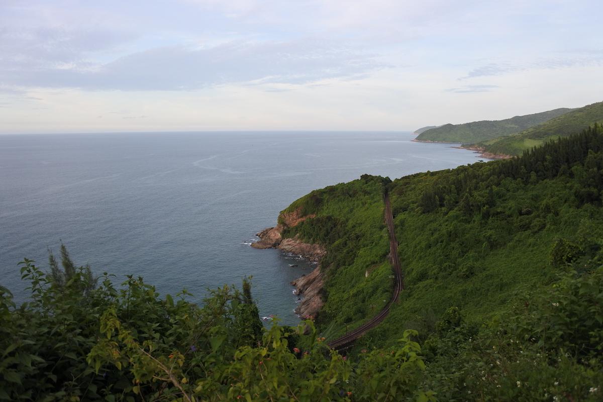 Route entre Hue et Da Nang au Vietnam